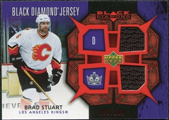 2007/08 Upper Deck Black Diamond Jerseys Ruby Dual #BDJBS Brad Stuart /100