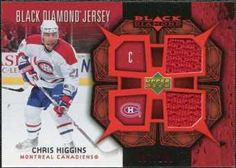 2007/08 Upper Deck Black Diamond Jerseys Ruby Dual #BDJCH Chris Higgins /100