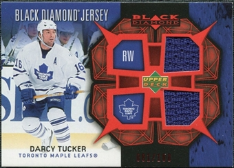 2007/08 Upper Deck Black Diamond Jerseys Ruby Dual #BDJDT Darcy Tucker /100