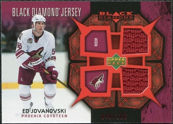 2007/08 Upper Deck Black Diamond Jerseys Ruby Dual #BDJEJ Ed Jovanovski /100