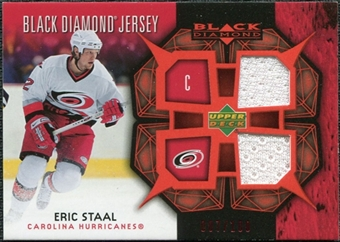2007/08 Upper Deck Black Diamond Jerseys Ruby Dual #BDJES Eric Staal /100