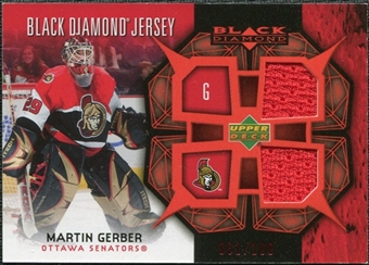 2007/08 Upper Deck Black Diamond Jerseys Ruby Dual #BDJGE Martin Gerber /100