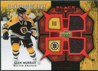 2007/08 Upper Deck Black Diamond Jerseys Ruby Dual #BDJGM Glen Murray /100