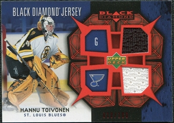 2007/08 Upper Deck Black Diamond Jerseys Ruby Dual #BDJHT Hannu Toivonen /100