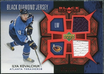 2007/08 Upper Deck Black Diamond Jerseys Ruby Dual #BDJIK Ilya Kovalchuk /100