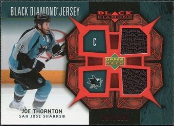 2007/08 Upper Deck Black Diamond Jerseys Ruby Dual #BDJJT Joe Thornton /100