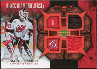 2007/08 Upper Deck Black Diamond Jerseys Ruby Dual #BDJMA Martin Brodeur /100