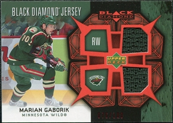 2007/08 Upper Deck Black Diamond Jerseys Ruby Dual #BDJMG Marian Gaborik /100