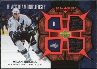 2007/08 Upper Deck Black Diamond Jerseys Ruby Dual #BDJMJ Milan Jurcina /100