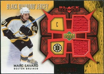 2007/08 Upper Deck Black Diamond Jerseys Ruby Dual #BDJMS Marc Savard /100