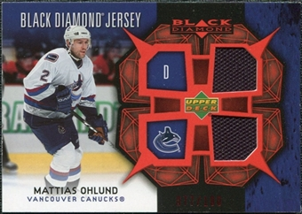 2007/08 Upper Deck Black Diamond Jerseys Ruby Dual #BDJOH Mattias Ohlund /100