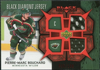 2007/08 Upper Deck Black Diamond Jerseys Ruby Dual #BDJPB Pierre-Marc Bouchard /100