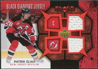 2007/08 Upper Deck Black Diamond Jerseys Ruby Dual #BDJPE Patrik Elias /100