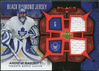 2007/08 Upper Deck Black Diamond Jerseys Ruby Dual #BDJRA Andrew Raycroft /100