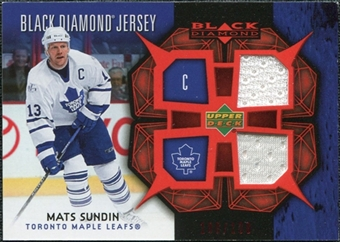 2007/08 Upper Deck Black Diamond Jerseys Ruby Dual #BDJSU Mats Sundin /100