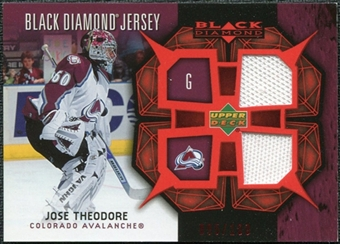 2007/08 Upper Deck Black Diamond Jerseys Ruby Dual #BDJTH Jose Theodore /100