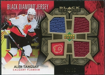 2007/08 Upper Deck Black Diamond Jerseys Gold Triple #BDJAT Alex Tanguay /25