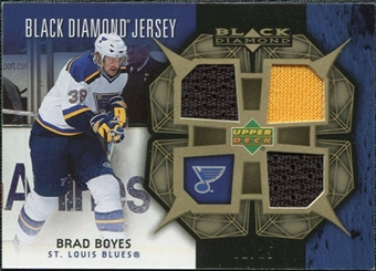 2007/08 Upper Deck Black Diamond Jerseys Gold Triple #BDJBB Brad Boyes /25