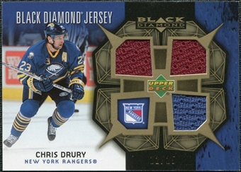 2007/08 Upper Deck Black Diamond Jerseys Gold Triple #BDJCD Chris Drury /25