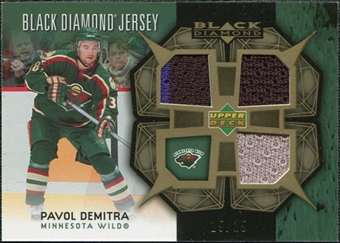 2007/08 Upper Deck Black Diamond Jerseys Gold Triple #BDJDE Pavol Demitra /25