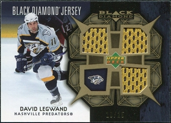 2007/08 Upper Deck Black Diamond Jerseys Gold Triple #BDJDL David Legwand /25