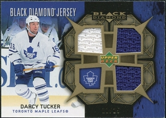 2007/08 Upper Deck Black Diamond Jerseys Gold Triple #BDJDT Darcy Tucker /25