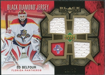 2007/08 Upper Deck Black Diamond Jerseys Gold Triple #BDJEB Ed Belfour /25
