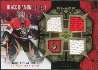 2007/08 Upper Deck Black Diamond Jerseys Gold Triple #BDJGE Martin Gerber /25
