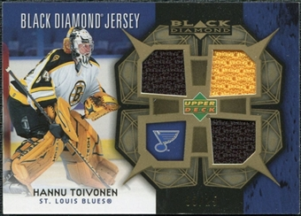 2007/08 Upper Deck Black Diamond Jerseys Gold Triple #BDJHT Hannu Toivonen /25