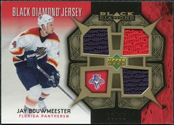2007/08 Upper Deck Black Diamond Jerseys Gold Triple #BDJJB Jay Bouwmeester /25
