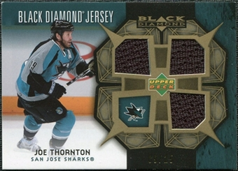 2007/08 Upper Deck Black Diamond Jerseys Gold Triple #BDJJT Joe Thornton 9/25