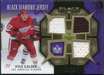2007/08 Upper Deck Black Diamond Jerseys Gold Triple #BDJKC Kyle Calder /25