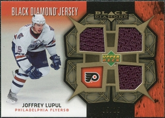 2007/08 Upper Deck Black Diamond Jerseys Gold Triple #BDJLU Joffrey Lupul /25