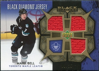 2007/08 Upper Deck Black Diamond Jerseys Gold Triple #BDJMB Mark Bell /25