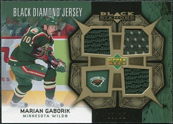 2007/08 Upper Deck Black Diamond Jerseys Gold Triple #BDJMG Marian Gaborik /25