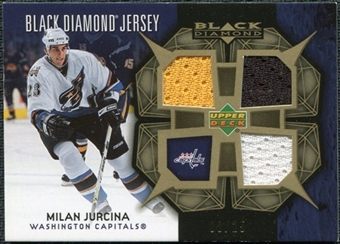 2007/08 Upper Deck Black Diamond Jerseys Gold Triple #BDJMJ Milan Jurcina /25
