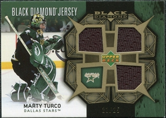 2007/08 Upper Deck Black Diamond Jerseys Gold Triple #BDJMT Marty Turco /25