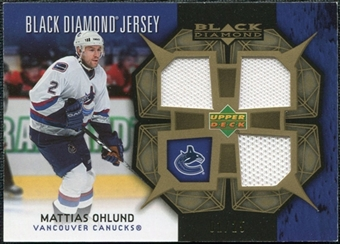 2007/08 Upper Deck Black Diamond Jerseys Gold Triple #BDJOH Mattias Ohlund /25