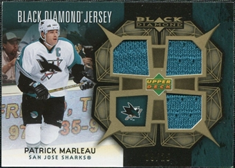 2007/08 Upper Deck Black Diamond Jerseys Gold Triple #BDJPM Patrick Marleau /25