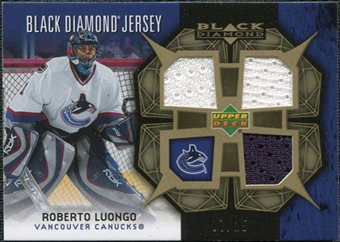 2007/08 Upper Deck Black Diamond Jerseys Gold Triple #BDJRL Roberto Luongo 7/25