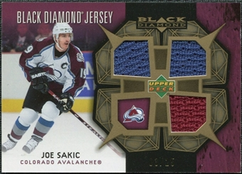 2007/08 Upper Deck Black Diamond Jerseys Gold Triple #BDJSA Joe Sakic /25