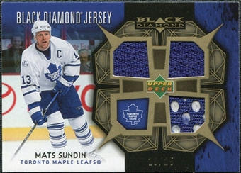 2007/08 Upper Deck Black Diamond Jerseys Gold Triple #BDJSU Mats Sundin /25