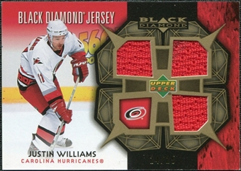 2007/08 Upper Deck Black Diamond Jerseys Gold Triple #BDJWI Justin Williams /25