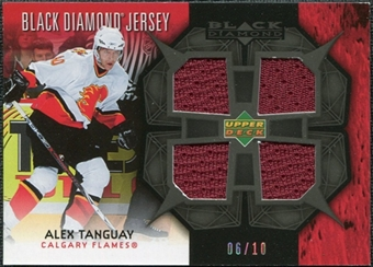 2007/08 Upper Deck Black Diamond Jerseys Black Quad #BDJAT Alex Tanguay /10