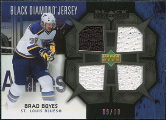 2007/08 Upper Deck Black Diamond Jerseys Black Quad #BDJBB Brad Boyes /10