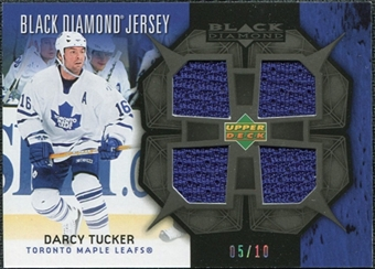2007/08 Upper Deck Black Diamond Jerseys Black Quad #BDJDT Darcy Tucker 5/10