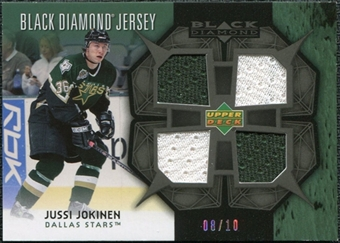 2007/08 Upper Deck Black Diamond Jerseys Black Quad #BDJJU Jussi Jokinen /10