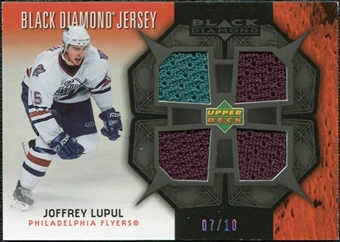 2007/08 Upper Deck Black Diamond Jerseys Black Quad #BDJLU Joffrey Lupul /10