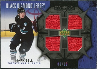 2007/08 Upper Deck Black Diamond Jerseys Black Quad #BDJMB Mark Bell /10