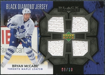 2007/08 Upper Deck Black Diamond Jerseys Black Quad #BDJMC Bryan McCabe /10